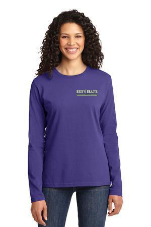 Port & Company - Ladies Long Sleeve 5.4-oz 100% Cotton T-Shirt