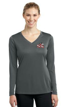 SSW-Sport-Tek-Ladies Long Sleeve V-Neck Competitor Tee. LST353LS