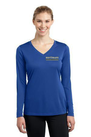 Sport-Tek - Ladies Long Sleeve V-Neck Competitor Tee. LST353LS